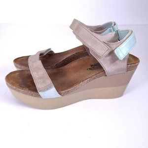 Naot Miracle Platform Wedges Size 10